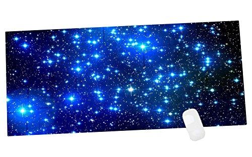 Cennbie Galaxy Extra Groß XXL Gaming Mauspad Anti-Rutsche Gummi-Beschichtung Mause pad für Computer Schreibtisch Briefpapier Zubehör Mause Pads.35×15in