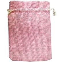 ROSENICE Bolsa de Organza Bolsitas de tela de saco bolsas de sacos 10pcs (color de rosa)