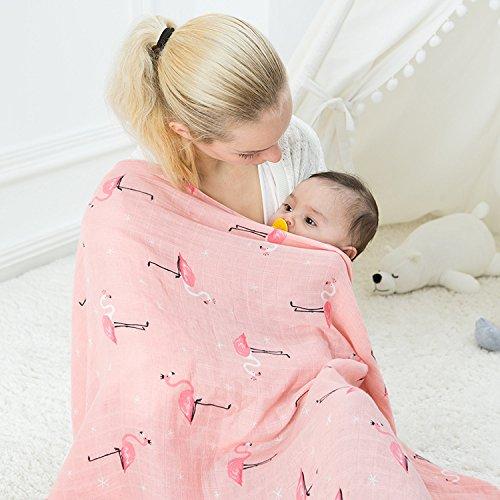 Lifetree Musselin Swaddle Pucktücher aus Puckdecken   XL Größe 120cm x 120cm babydecken   Mullwindeln für Junge und Mädchen