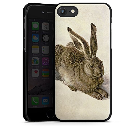 Apple iPhone X Silikon Hülle Case Schutzhülle Hase Bunny Häschen Hard Case schwarz
