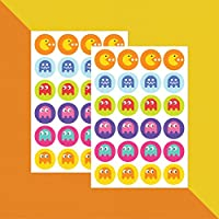 Pacman Video Game Icons – Stickers x 48 // Teacher Stickers