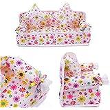 tfxwerws Lovely accesorios para casa de muñecas juguetes Cute Mini flores cojines de sofá