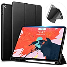"""Original Case for iPad Pro 10.2"""" (7th Generation) 2019 - Ultra Slim Lightweight Stand Built in Pencil Holder Smart Microfiber Back Cover for New 10.2-inch, with Auto Sleep/Wake Feature - Black"""