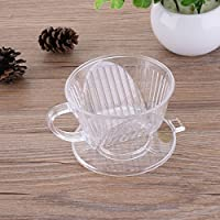 1 Pcs PP Resin Coffee Filter Cup Drip Coffee Filter bowls manually Follicular Filters Coffee Tea Tools