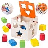 Spielwürfel Steckwürfel Steckwürfel Steckbox für Baby Kleinkind GS0001 Holz Farberkennung Intelligenz Sorter, für Kleinkind Aktivspiel Würfel Holzwürfelspiel