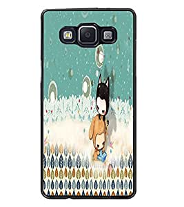 PrintDhaba cartoon D-4061 Back Case Cover for SAMSUNG GALAXY A5 (Multi-Coloured)