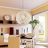gqlb die Kommission Herde Kronleuchter Lampe Kugel Kugel Bar Lounge Rattan Nid D Kronleuchter Lampe Lights Bar Lounge 300mm