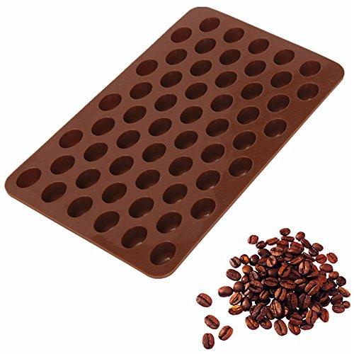 valink 55Hohlraum, Mini Kaffee Bohnen Schokolade Silikon Formenbau Sugar Candy Form Bakware...