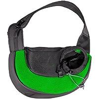 390205 Transportín de hombro para perros pequeños y cachorros - Verde