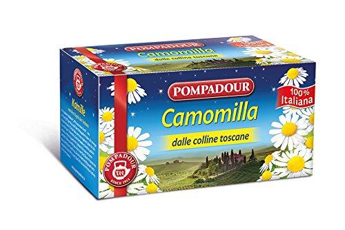 Pompadour Infusione per Bevande Calde, Camomilla Italiana - 18 Astuccio