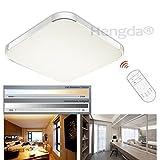 Hengda 36W LED Deckenleuchte Deckenlampe Panel Badlampe Weiß Warmweiß AC 85V-265V Dimmbar Fernbedienung (36W dimmbar)