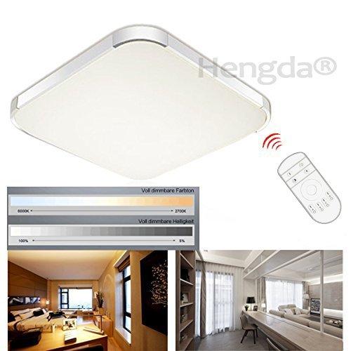 Hengda® 36W LED Deckenleuchte Deckenlampe Panel Badlampe Weiß Warmweiß AC 85V-265V Dimmbar Fernbedienung (36W dimmbar)