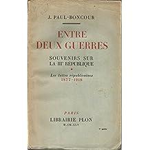 entre deux guerres, souvenirs sur la IIIe republique tome 2, les lendemains de la victoire 1919 1934, plon 1945