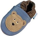 MiniFeet Premium Weich Leder Babyschuhe - Verschiedene Stile - Jungen und Mädchen BabySchuhe - Neugeborene bis 3-4 Jahre
