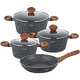 Set de 7casseroles en marbre Set de casseroles Harnais Rouge Pot KLAUS Montagne KO de 7240