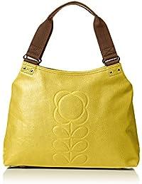 Orla Kiely Womens Classic Zip Leather Messenger Bag
