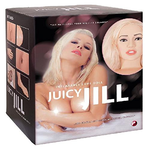 Lebensgroße Lovedoll Sexpuppe - Juicy Jill mit 2 engen Lust-Öffnungen inkl. Fußpumpe You2Toys