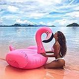 Bouée Flamant Rose Gonflable Flamingo Piscine pour Flottante Jouet Bouée Gonflable pour Fête de Piscine et pour Plage et Piscine pour les Sans pompe Gonflage sky tears (Rose)