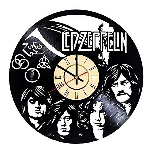YLDJINGZ Led Zeppelin Schallplatte Uhr Antik Wandhauptdekoration Wand
