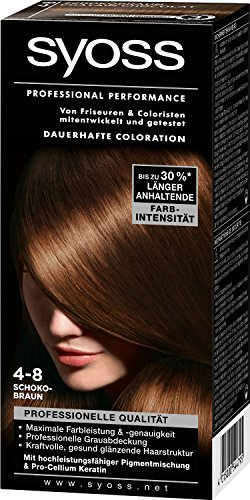 3x syoss coloration 4 8 schokobraun couleur des cheveux - Syoss Coloration