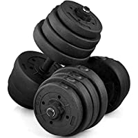 Popamazing 2x Dumbbell Free Weights Dumbells Set Gym Bench Barbell Bicep Workout Lifting 30KG(Set of 2)
