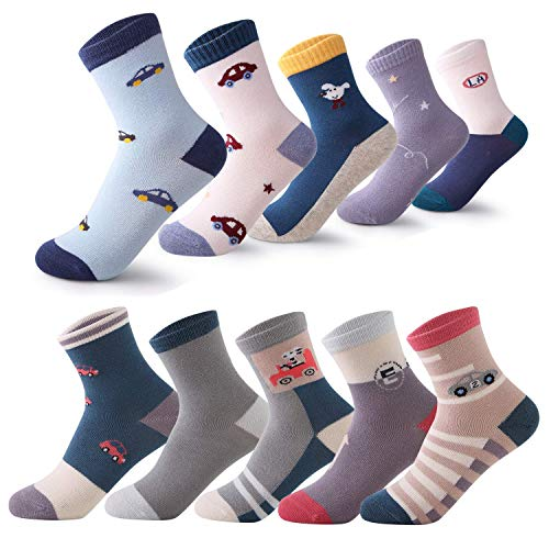 (storeofbaby Jungen Kleid Socken Mädchen Kinder Spaß Mode Baumwolle Crew Socken Packung mit 10)