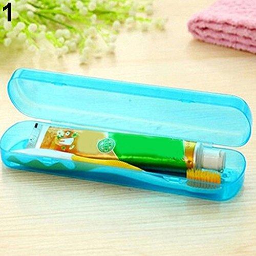 Dragonaur Étui de brosse à dents et dentifrice portable, Plastique, bleu, Taille M
