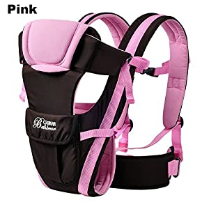 Vine Adjustable 4 Positions Baby Carrier 3D Backpack Pouch Bag Infant Wrap Soft Structured Ergonomic Sling Front Back Pink   13