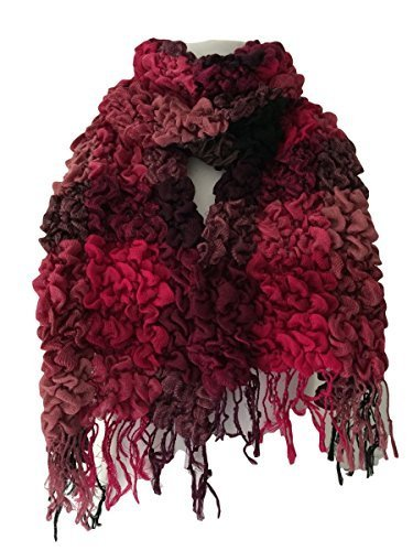 chunky-pink-winter-scarf-hot-pink-and-black-bouncy-ruffle-ladies-warm-bubble-scarf