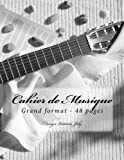 Cahier de Musique Grand format 48 pages: Design Original Type 4