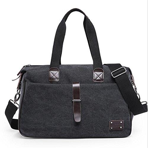 Wmshpeds Gli uomini borsa di tela multi-funzione borsa a tracolla Sport Messenger Bag borsa esterna E