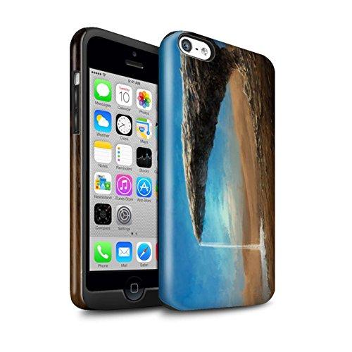 Offiziell Chris Cold Hülle / Glanz Harten Stoßfest Case für Apple iPhone 5C / Schwarzes Loch Muster / Galaktische Welt Kollektion Exoplanet