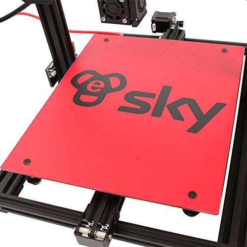 HE3D vormontierter SKY 3D Drucker mit Titantextruder AC Wärme Bett voll Aluminium große Baugröße 300 * 300 * 400mm Doppelköpfe als Geschenk - 5