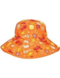 chapeau de soleil enfant été anti uv orange 2-5 ans