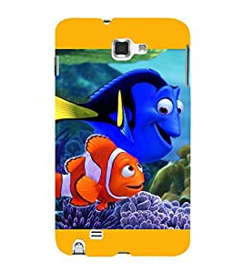 Print Masti Designer Back Case Cover for Samsung Galaxy Note 2 :: Samsung Galaxy Note Ii N7100 (Fleshy Scally Water Drop Marine)