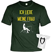 Cooles Anglerset - Fun T-Shirt Angler + Mini T-Shirt : Ich liebe es wenn mich .. -- Angler Geschenk Set Goodman ®
