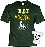 Geschenkidee  - Cooles Anglerset - Fun T-Shirt Angler + Mini T-Shirt : Ich Liebe es wenn Mich - Angler Geschenk Set Goodman ® Gr: XL Farbe: dunkelgrün