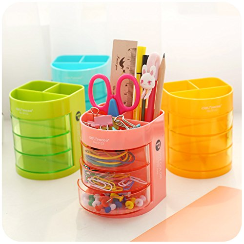 Stvin New arrival 3 layer Pen Holder Holder Simple Design Plastic Dest Stationery Holder Office Desk Accessories School Supplies
