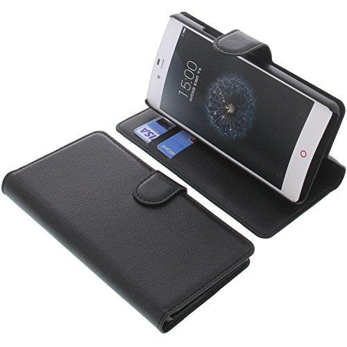 foto-kontor Tasche für ZTE Nubia Z9 Mini Book Style schwarz Schutz Hülle Buch