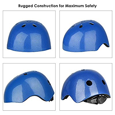 Six Foxes Cycle Helmet Kids Boys Girls Cycling Helmet Bicycle Helmet for Age 3-8 Year, 48-54 cm from Six Foxes
