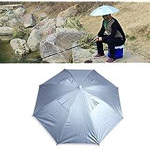 ewinever Pesca al Aire Libre Plegable elástico Jefe Anti-UV Paraguas del Sombrero del Casquillo