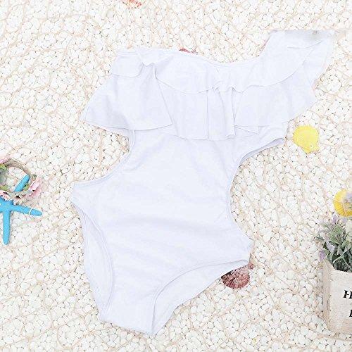 Mme summer maillot de sa capture l'ouest de l'épaule de bikini maillot de bain-YU&XIN White