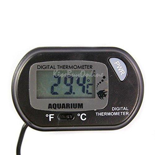Mondpalast @ LCD Termómetro Temperatura Medidor Probador de Acuario con Ventosa para Acuario Terrario Pecera Tanque de Pescados agua