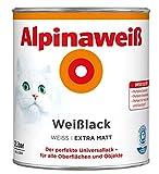 ALPINA Alpinaweiss Lack Farbe Weisslack weiß 2,0 Liter EXTRA Matt