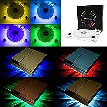 Ventilador Wowled con LED RGB, por USB, soporte refrigerador para PS4,Playstation 4,accesorio con minicontrolador para consola o portátil