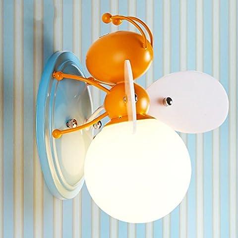 QFF Enfant, sécurité, créatif, Garçon, girl, chambre à coucher, chevet, lampe, unique... ( Couleur : Bees )