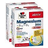 Doppelherz Magnesium 500 + B12 + D3 DIRECT DEPOT - Magnesium für die normale Funktion der Muskeln und des Nervensystems - 2 x