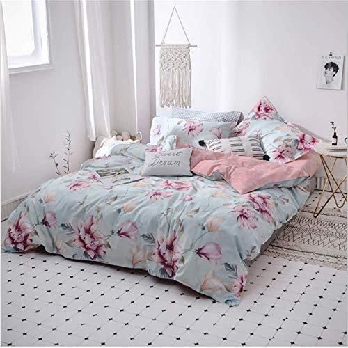 SHJIA Textil Mädchen Kind Teen Bettwäsche Set Erwachsene Weiche Bettbezug Kissenbezug Bettlaken A 200x230 cm - Kitty Hello Teen