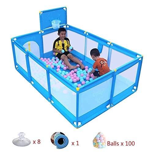 ZHJWL Kinderspielplatz / 10 Panel Safety Shooting Fence Kinderspielzaun mit Tür/Matratze/Ball, for Indoor Outdoor ist robust langlebig geeignet Jungen Mädchen
