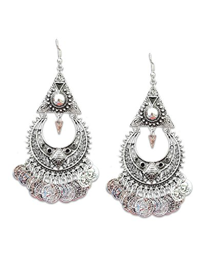 Young & Forever Mothers Day Gifts Tribal Muse Collection Oxidized Silver Plated Drop & Danglers Earrings For Girls...